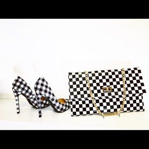 NEW Gingham Pointy Toe Pumps